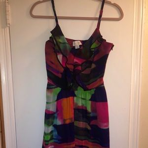 Jessica Simpson: Multicolor Party Dress